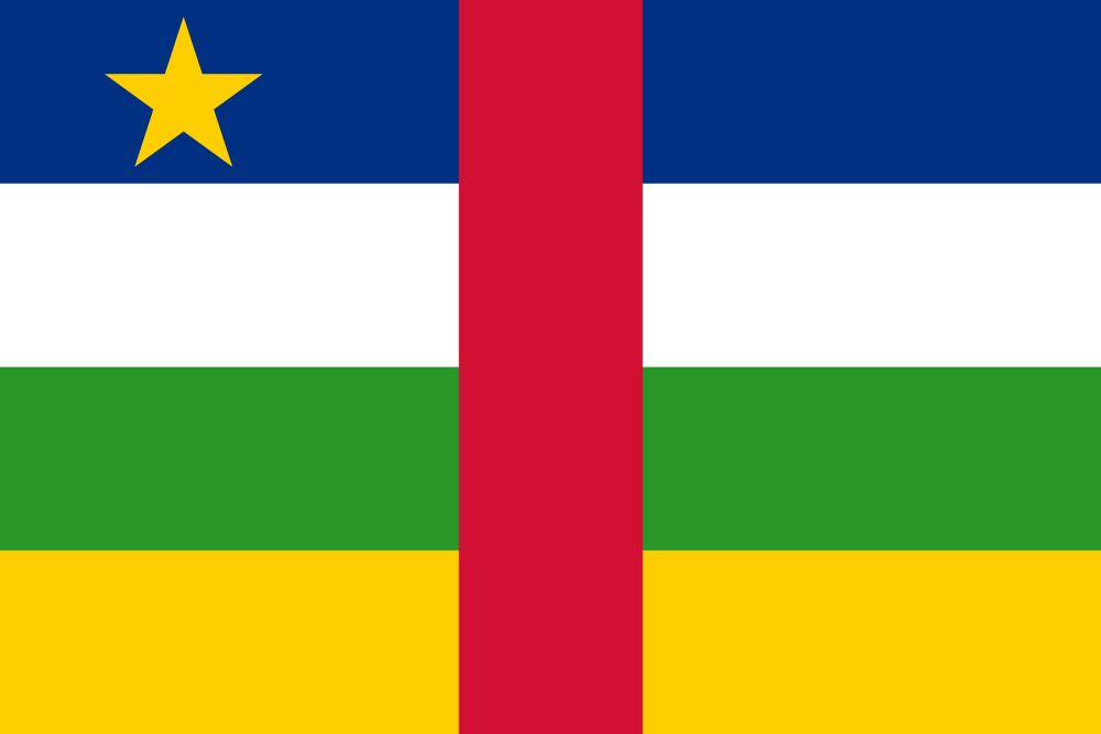 Flag of Central-African Republic, the