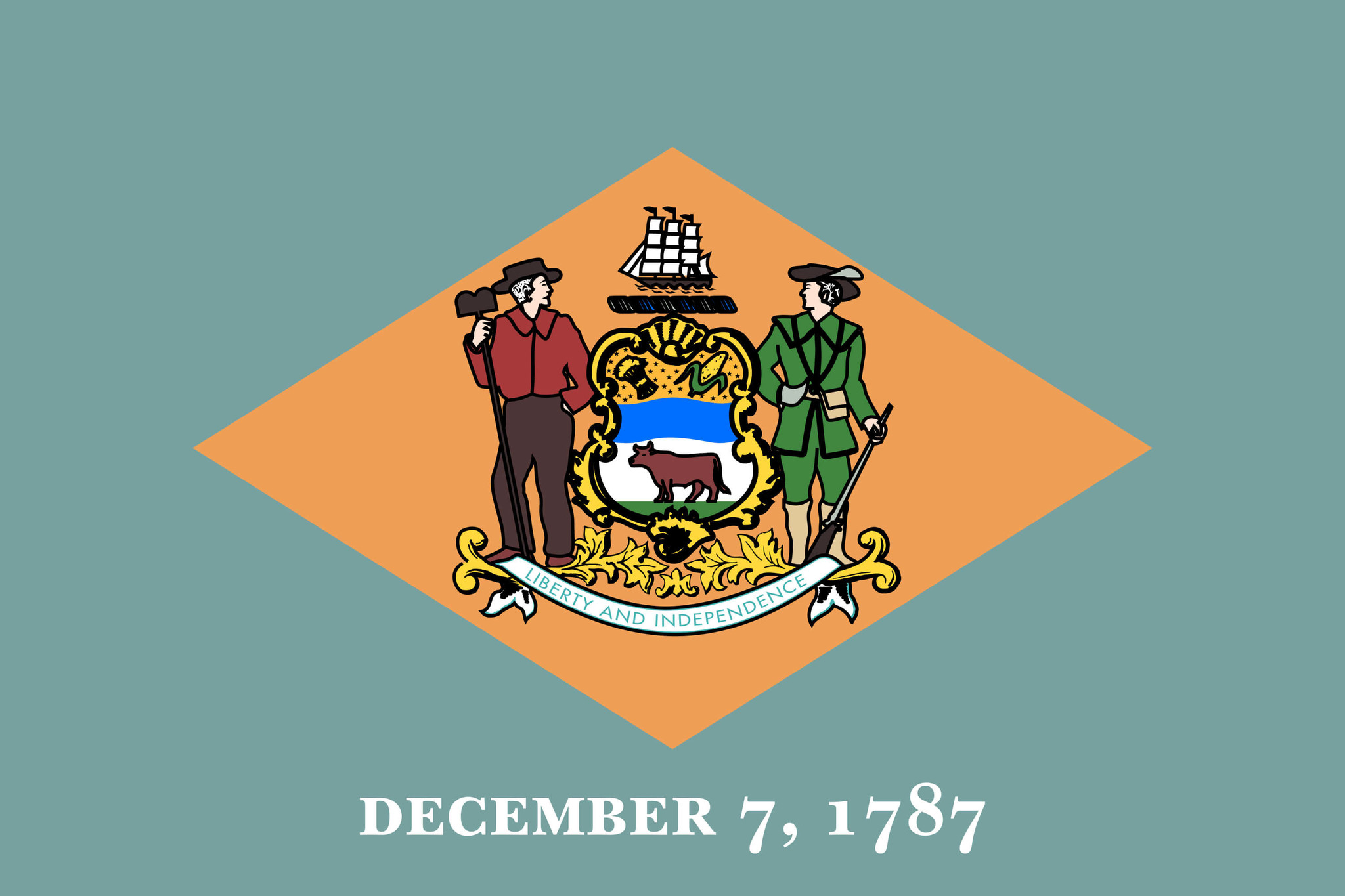 Flagge von Delaware