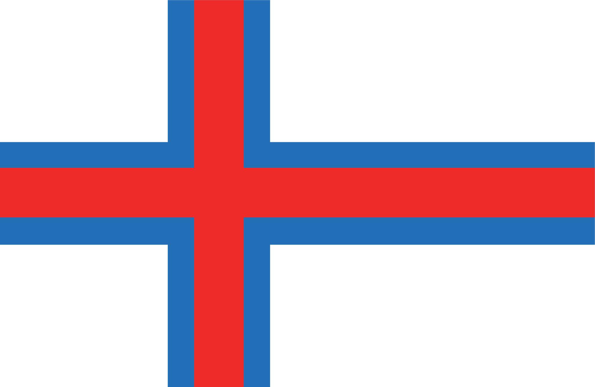 Flagge der Färöer-Inseln