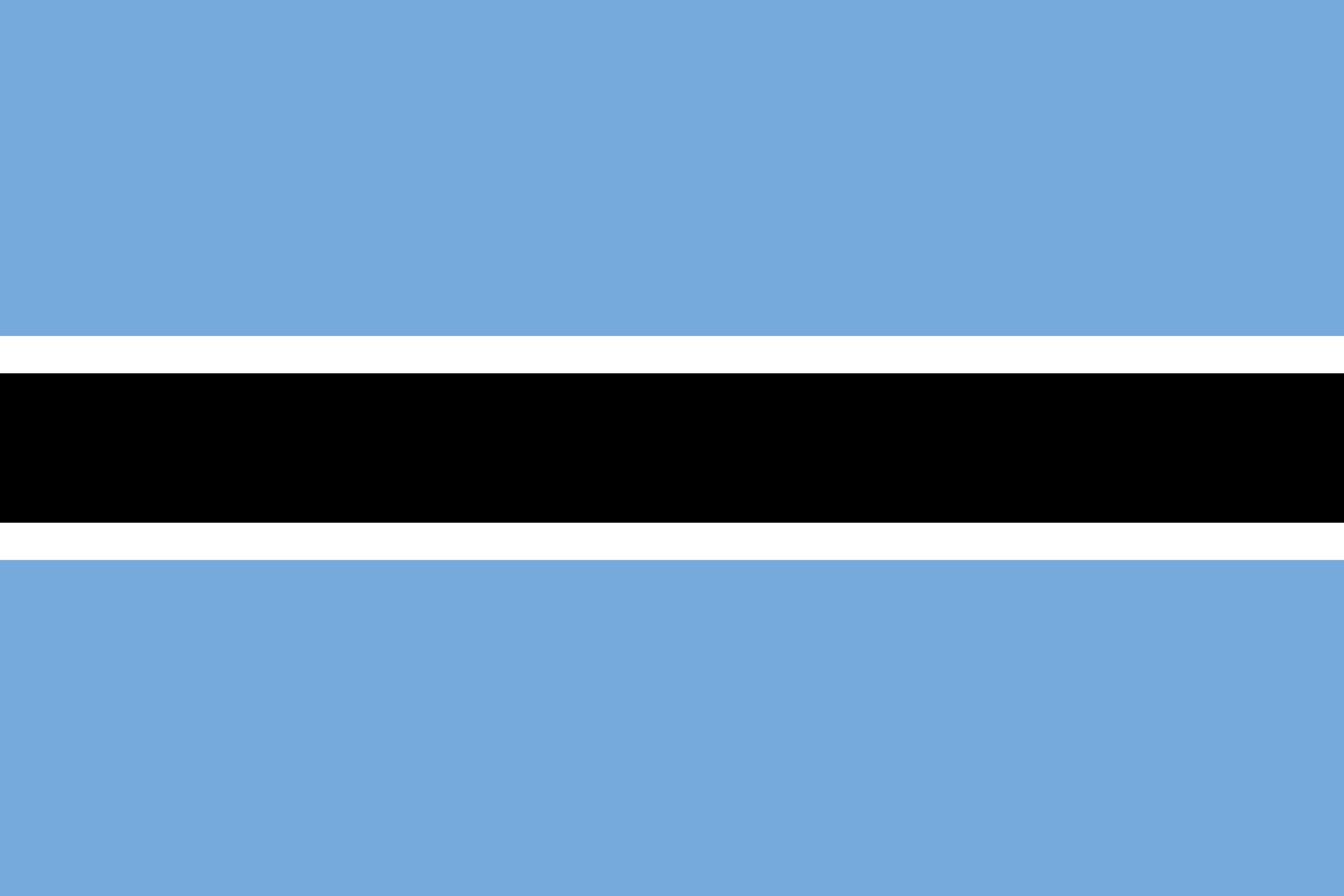 Flagge Botswana