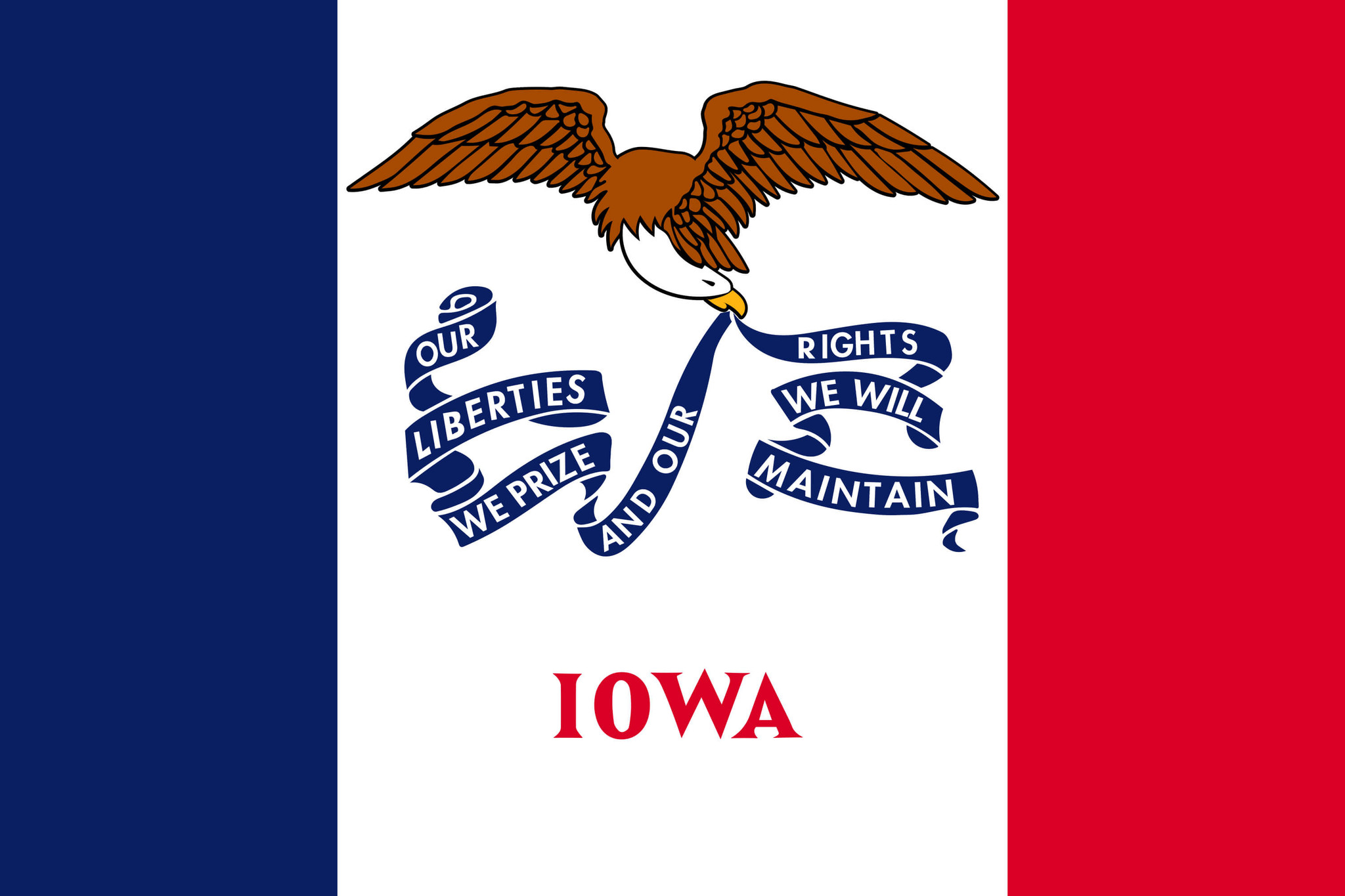 Flagge von Iowa