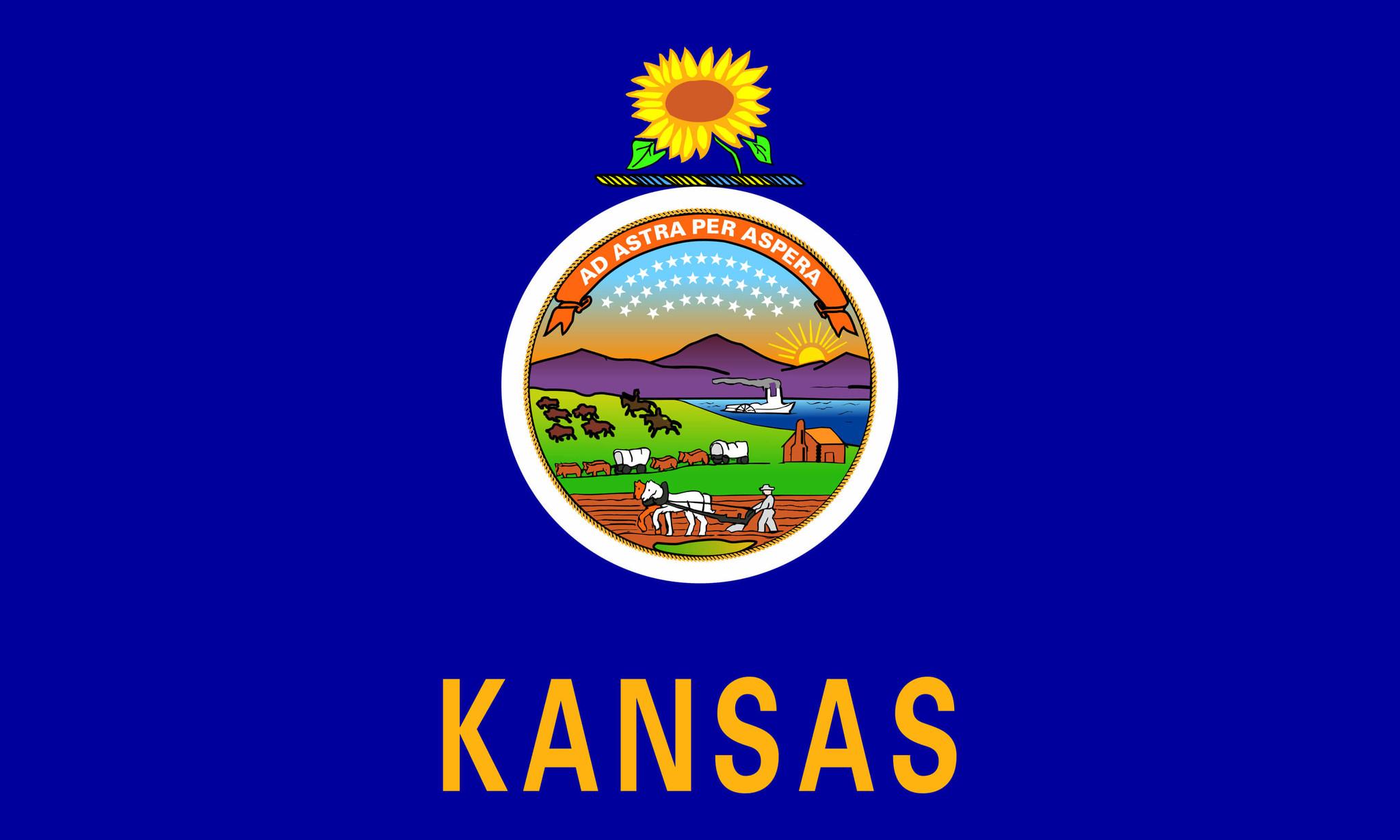 Flagge von Kansas