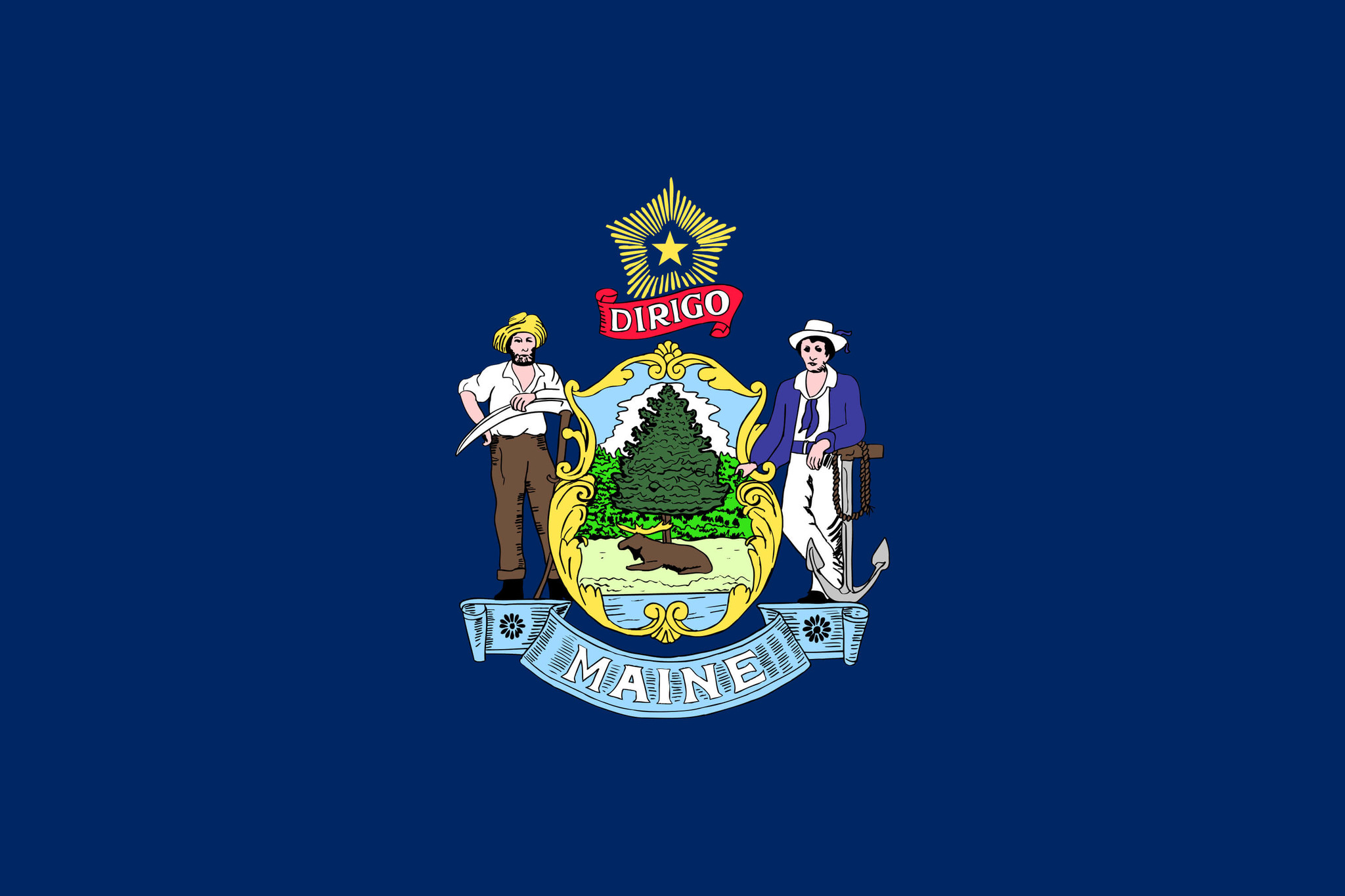 Flag of Maine