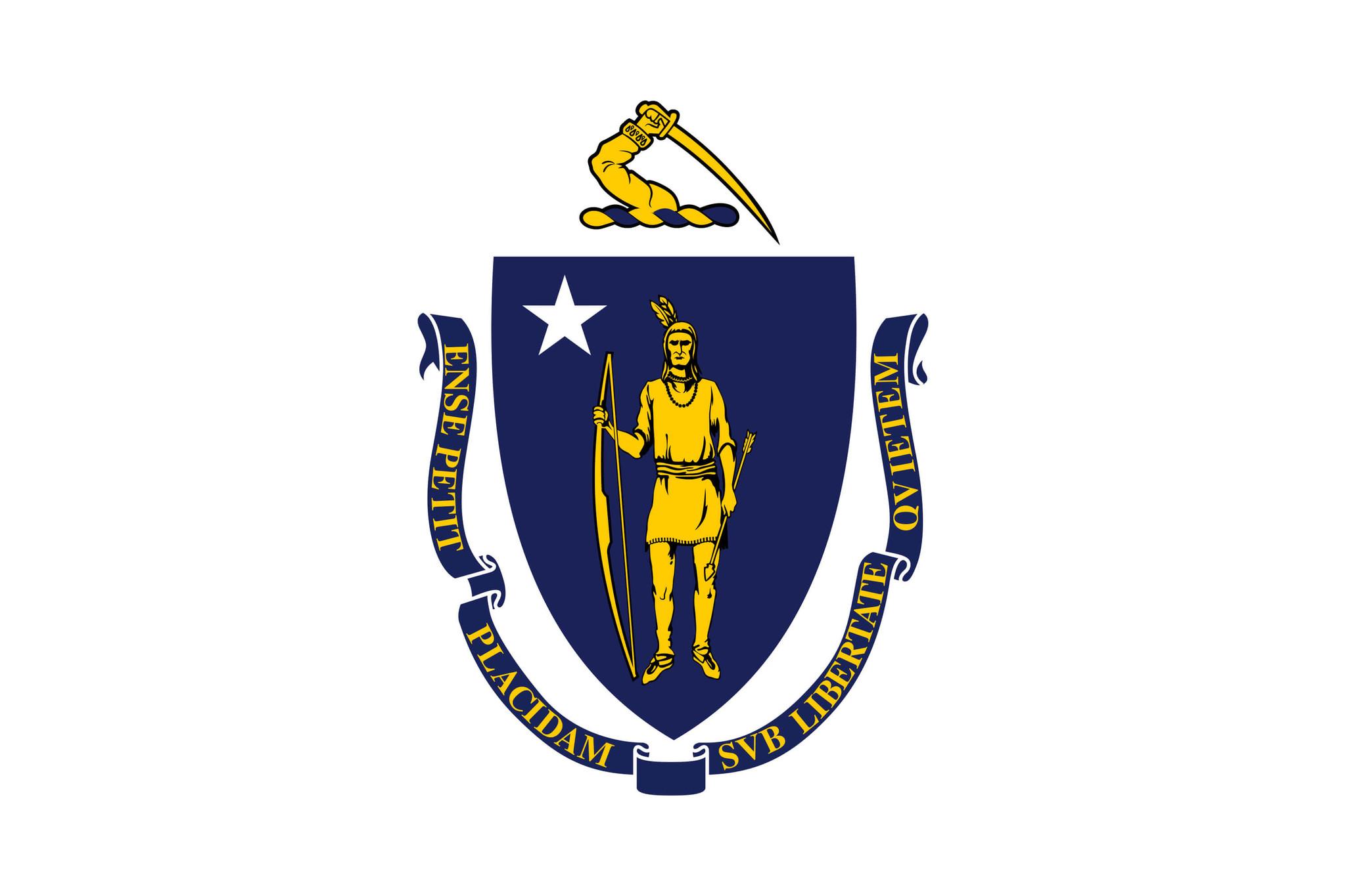 Flagge von Massachusetts
