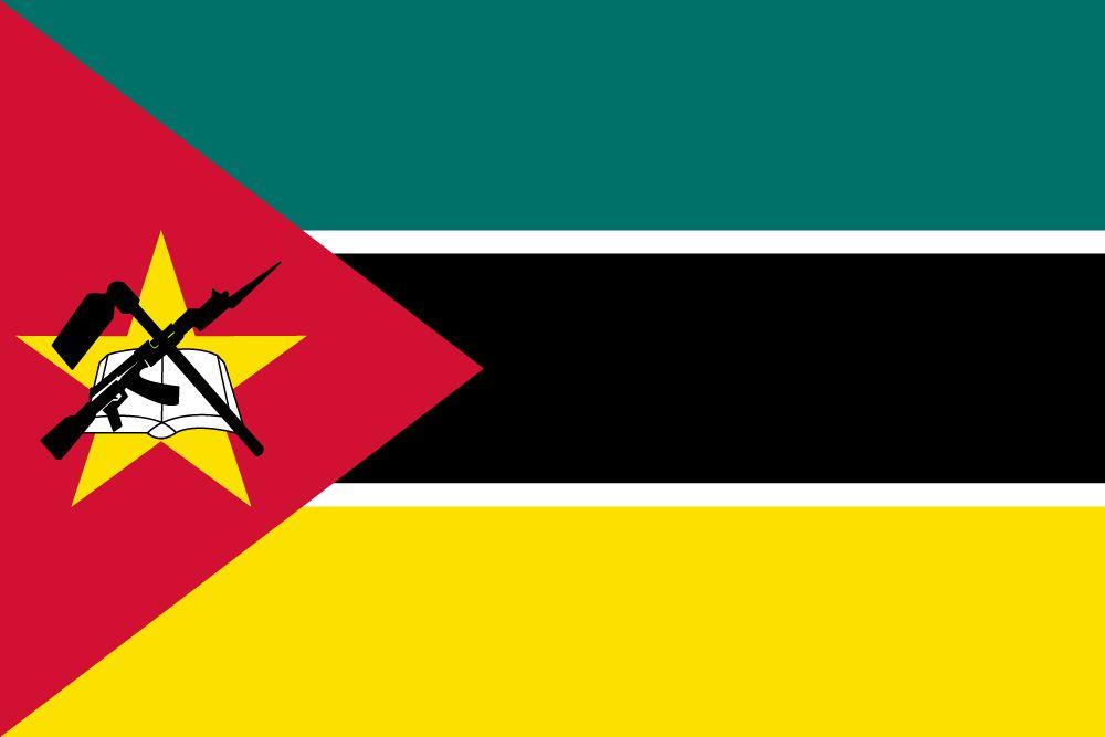 Flagge Mosambik