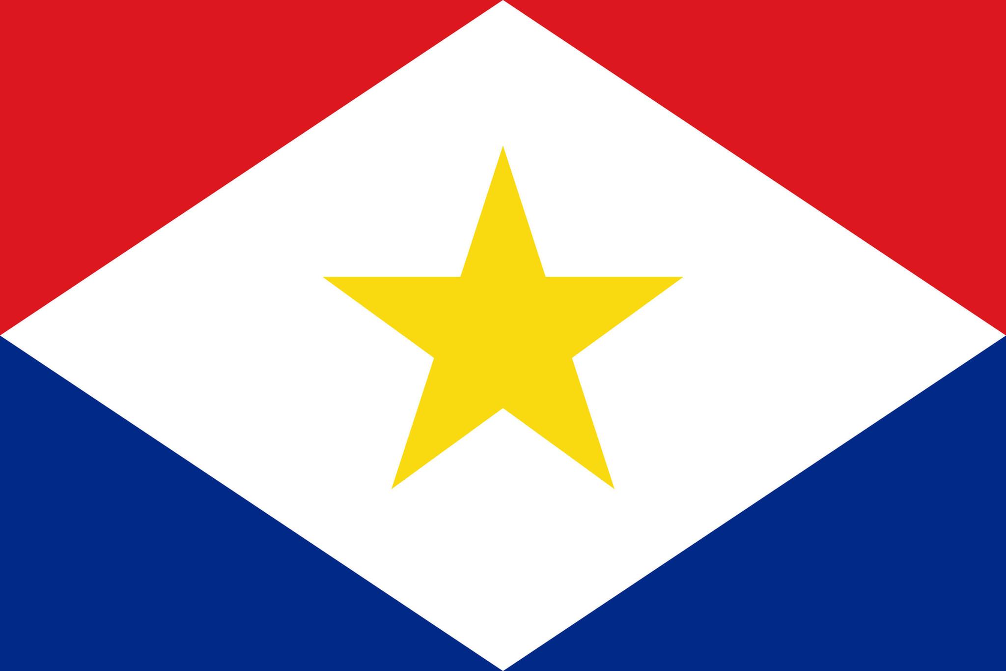Flagge von Saba