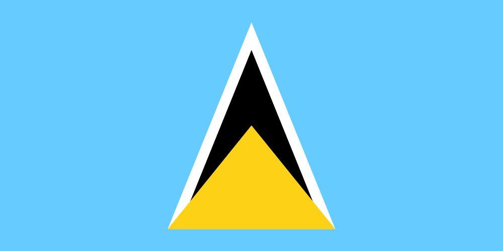 Flagge St Lucia