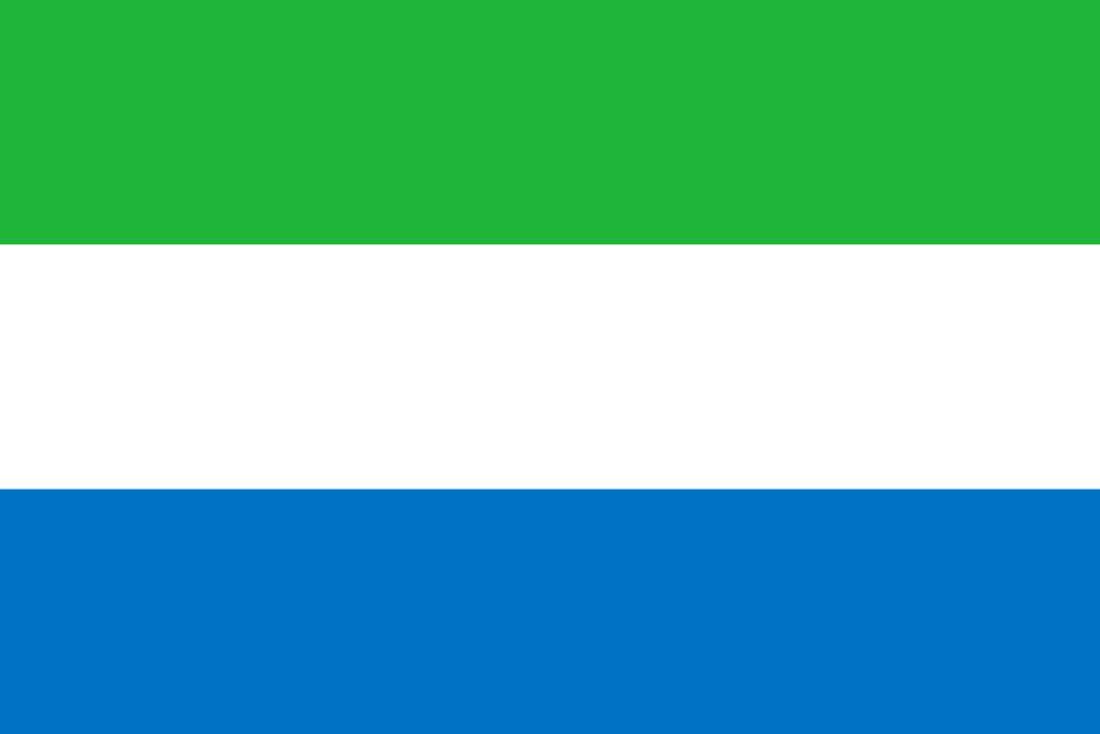 Flagge Sierra Leone