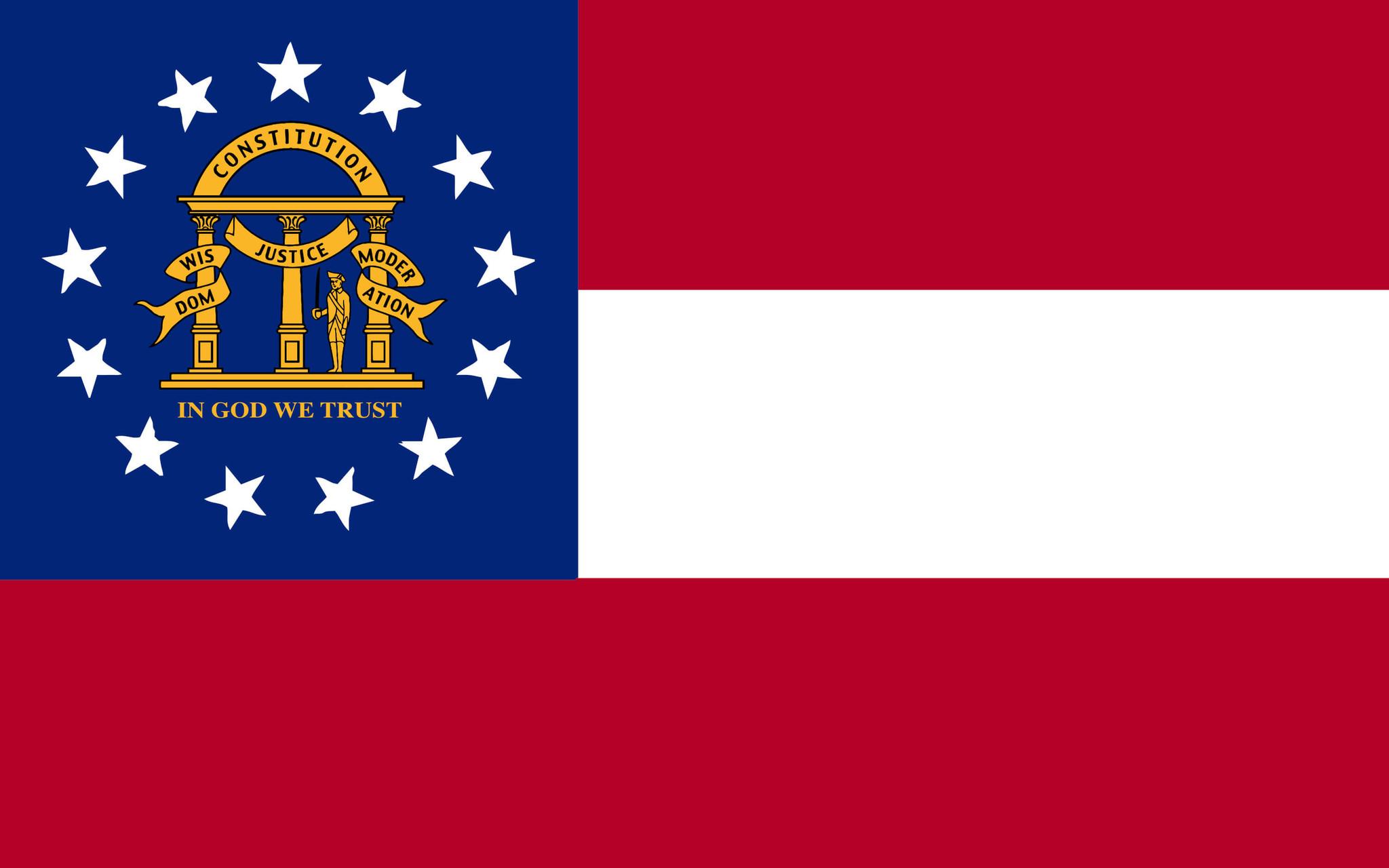 Flagge von Georgia