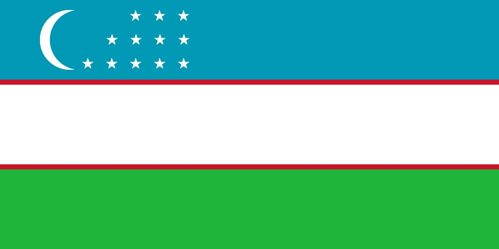 Vlag van Oezbekistan