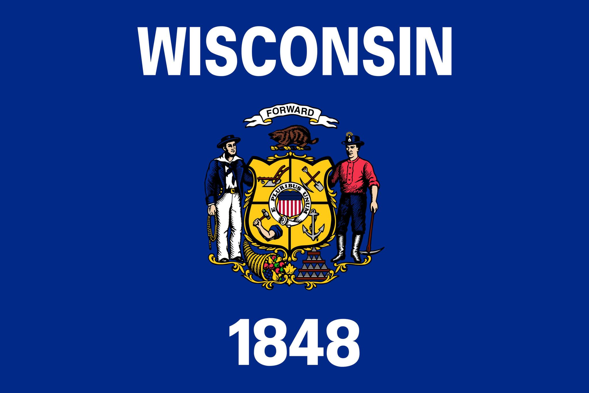 Flagge von Wisconsin